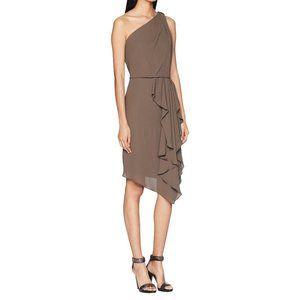 HALSTON HERITAGE One-Shoulder Asymmetrical Dress 4